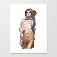 model Canvas Prints featuring Model by Pretend Planet