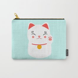 Lucky happy Japanese cat Carry-All Pouch