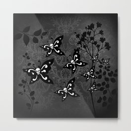 Skullerflies in the garden - dark scale Metal Print