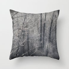 The Frosty Forest Throw Pillow