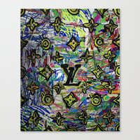 lv Canvas Prints featuring LV by JANUARY FROST