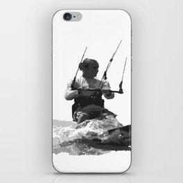 Catch A Wave Kitesurfing Vector iPhone Skin