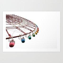 tokyo ferris wheel Art Print