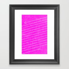 The Longest Arrow (Techno Pink) Framed Art Print