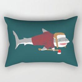 Shark LumberJack Rectangular Pillow