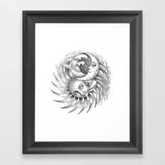 Moon and Sun Framed Art Print