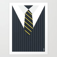 wolf of wall street Art Prints featuring The Wolf of Wall Street by ziwei tan