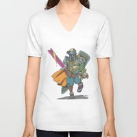dungeons and dragons V-neck T-shirts featuring Dungeons & Dragons & DOOM by Floating Disc