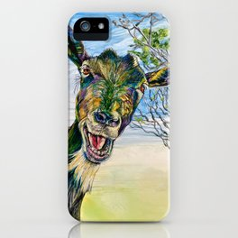 Alcohol Ink and Acrylic Paintings by Artist Marla Kurzec iPhone Case