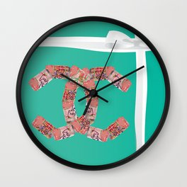 Breakfast at the ch-anel store-3 of my favorite things Wall Clock