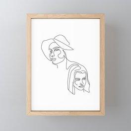 Line art woman illustration Framed Mini Art Print