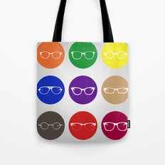 9 Glasses Styles Tote Bag