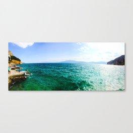 Nafplio Beach Canvas Print