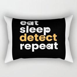 Eat Sleep Detect Repeat Metal Detector Rectangular Pillow