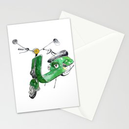 Green Moto Stationery Cards