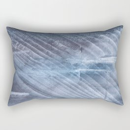 Gray Blue blurred wash drawing Rectangular Pillow