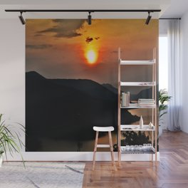 Sunset and the river Wall Mural