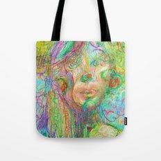 Psychedelic Girl Tote Bag