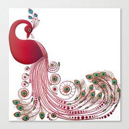 Graceful Peacock Canvas Print