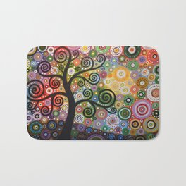 Abstract Art Landscape Original Painting ... Tree of Wishes Bath Mat