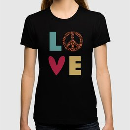 Love Peace Heart - Retro Color T-shirt