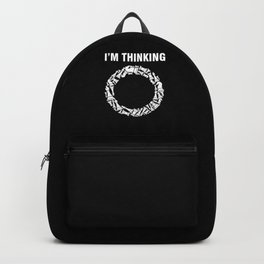 Thinking Chess Checkmate Pieces Board Game Gift Backpack