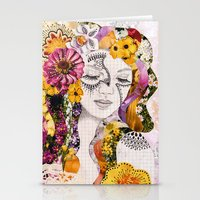 flora Stationery Cards featuring Flora by Jenndalyn