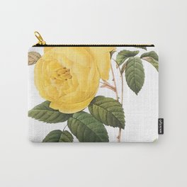 Botanical Print, Yellow Roses, Rosa Sulfurea Carry-All Pouch