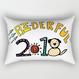 2018 Wang-derful Dog Doodles Rectangular Pillow