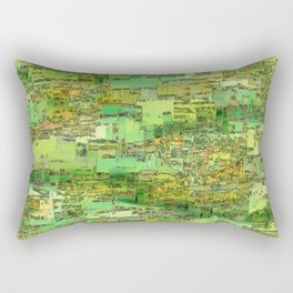 Green City on a Hill Rectangular Pillow