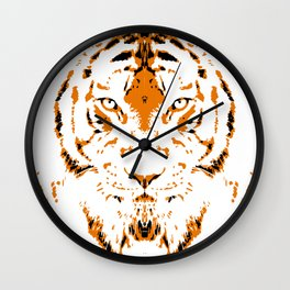 Humans are like tigers, wild Wall Clock