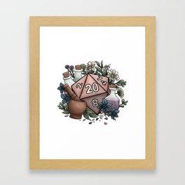Alchemist D20 Tabletop RPG Gaming Dice Framed Art Print