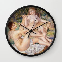 Les Grandes Baigneuses (The Large Bathers) by Auguste Renoir Wall Clock