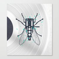 deadmau5 Canvas Prints featuring Cartridgebug by Sitchko Igor