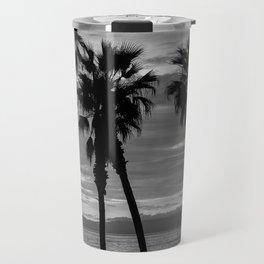 Sunset Though The Palms 1-13-19 (B&W) Travel Mug