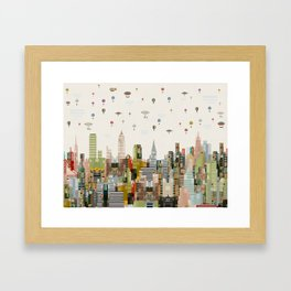 the great wondrous balloon race Framed Art Print