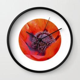 poppy macro IV Wall Clock