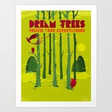 Dream Trees Art Print