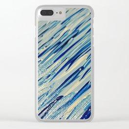 Blue grass detail Clear iPhone Case