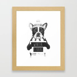 Winter is boring Framed Art Print