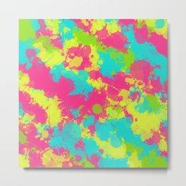 90s Baby Paint Splatter Metal Print