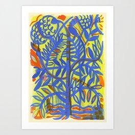 neon botanical Art Print
