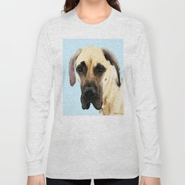 Great Dane Art - Dog Painting by Sharon Cummings Long Sleeve T-shirt
