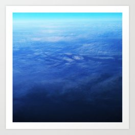 Ombre Arial Art Print