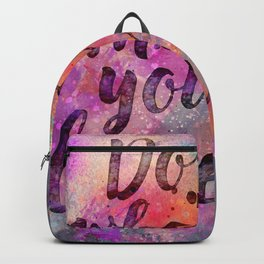 Do what you love! Orange Pink Typo Art Backpack