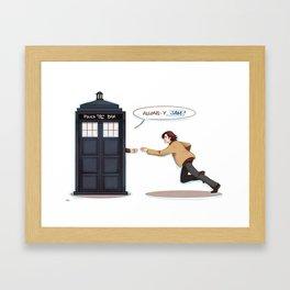 allons-y, sam! (supernatural x doctor who) Framed Art Print