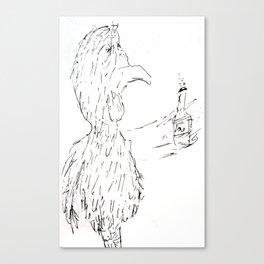 Drunken Bird Canvas Print
