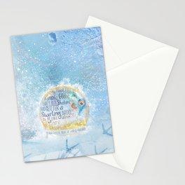Like a Snow Globe Stationery Cards