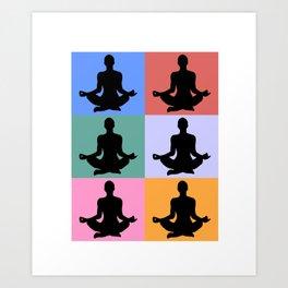 Meditation, Zen design Art Print