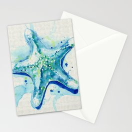 Starfish Waters II natural Stationery Cards